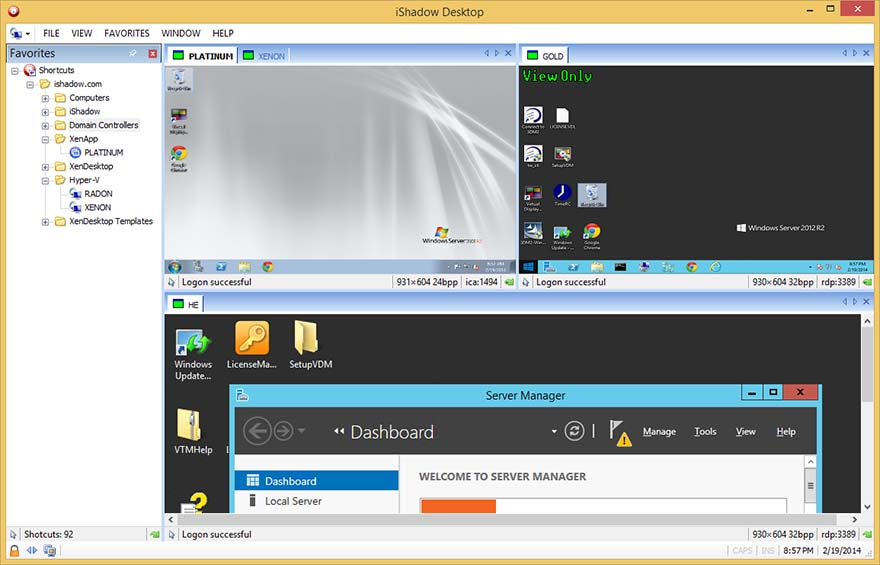 iShadow Desktop Interface