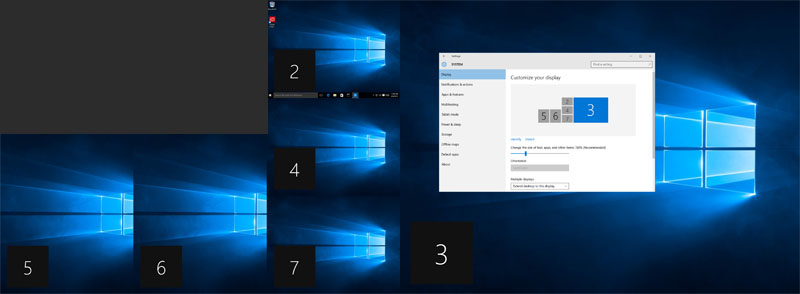 windows 7 desktop wallpaper two monitors